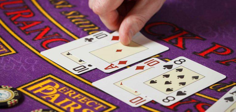 Cards on Blackjack Table