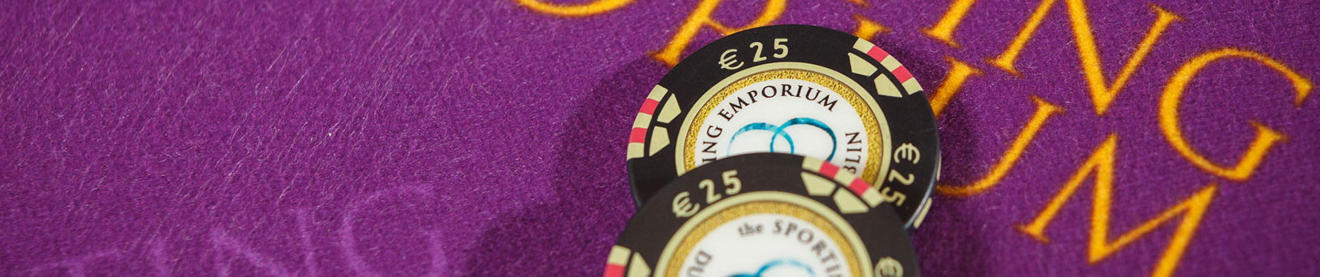Casino Chips on Purple Table