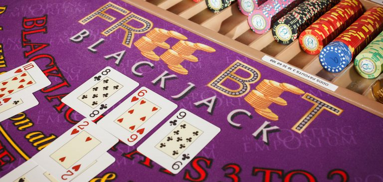 Purple Free Bet Blackjack Table