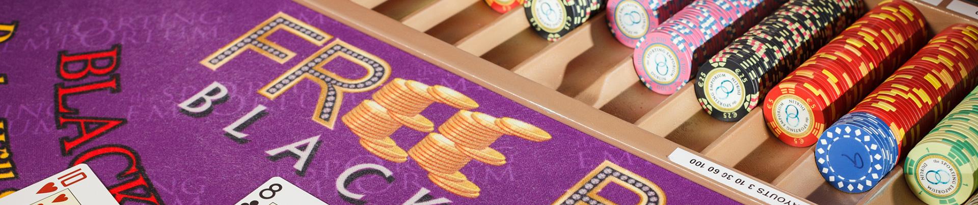 Purple Free Bet Blackjack Table